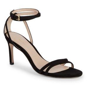 New STUART WEITZMAN Lexie ankle strap Suede Sandal